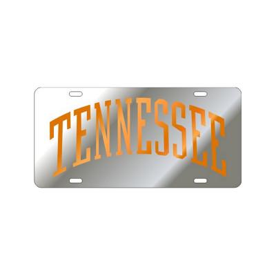 Silver & Orange Arched TN Mirrored Plate
