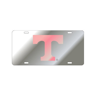 """Silver & Pink Power """"T"""" Mirrored Plate"""