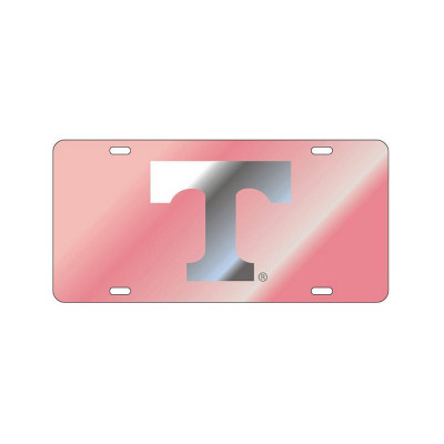 """Pink & Silver Power """"T"""" Mirrored Plate"""